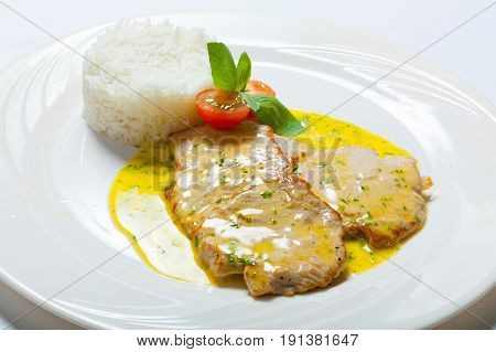 Pork Cutlet With Curry Sauce And Rice