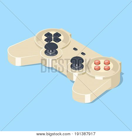 Gamepad icon. Video game controller symbol. Isometric vector illustration