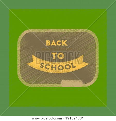 flat shading style icon of Back to school board