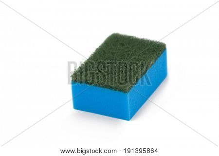 Close-up of scouring pad on white background
