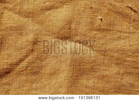 Orange Color Hessian Sack Cloth Texture.