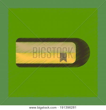 flat shading style icon of book bookmark