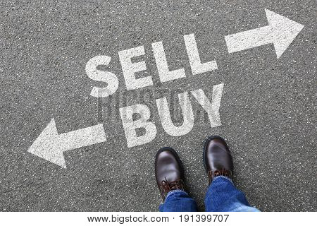 Sell Buy Selling Buying Goods Trading Stock Exchange Banking Business Concept