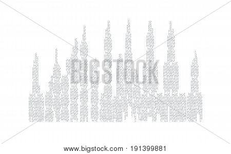 City Skyline Vector Illustration. Urban Landscape. City Silhouette. Cityscape In Flat Style. Modern