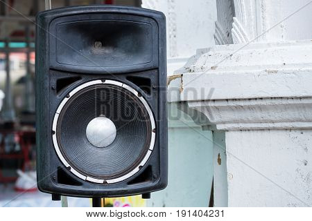 The Loudspeaker amplifier in tha temple Thailand