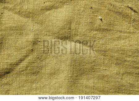 Yellow Color Hessian Sack Cloth Texture.