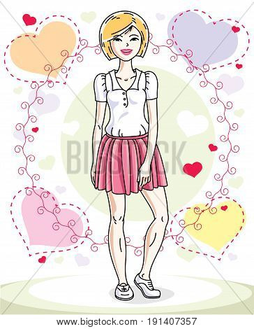 Young Beautiful Vector Photo Free Trial