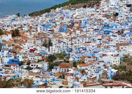 Medina Of Chefchaouen City In Morocco