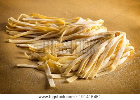Ribbons Of Tagliatelle Pasta