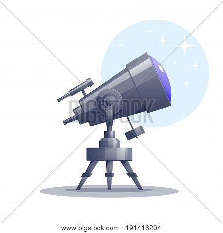 Vector cartoon telescope. Eps8. RGB Global colors
