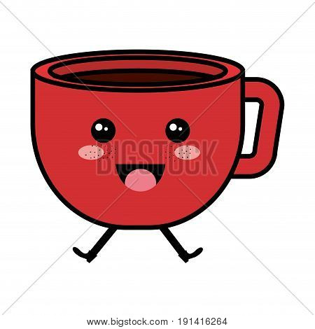 coffee cup kawaii character vector ilustration design