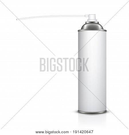 spray insecticide can isolated on white background
