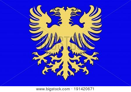 Flag of Alencon is a commune in Normandy France capital of the Orne department. Vector illustration