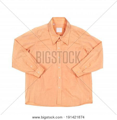 Blank biege shirt isolated on white background