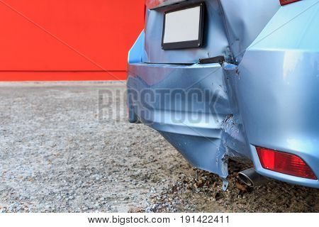Backside Of Car Get Damaged By Accident