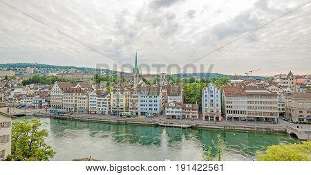Limmatquai, Downtown Zurich, Switzerland