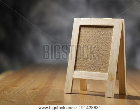 mini cork board on the wooden table
