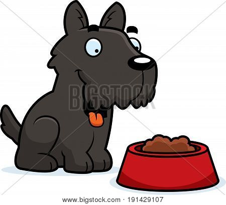 Cartoon Scottie Food