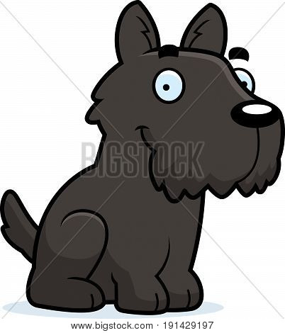 Cartoon Scottie Sitting