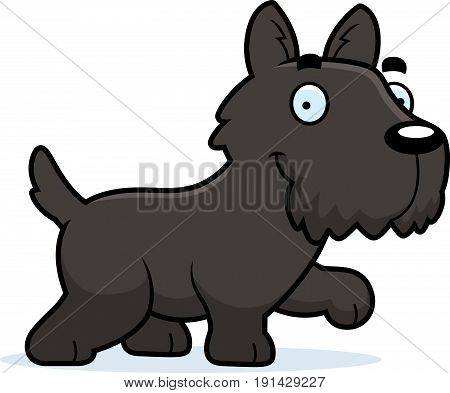 Cartoon Scottie Walking