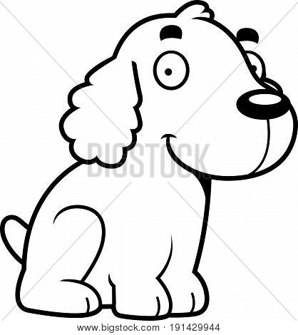 Cartoon Cocker Spaniel Sitting
