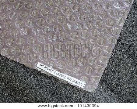 Closed up Shockproof material - Air Bubble Sheet