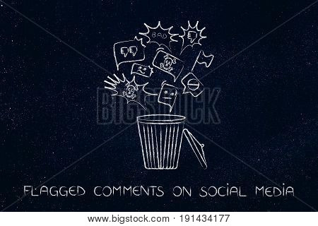 Bin With Negative Content On Social Media Getting Deleted
