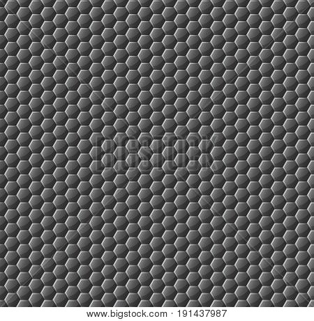 The pattern of the glossy honeycomb is of a dark color. Glass honeycombs. Background for your project. Vector illustration. EPS 10