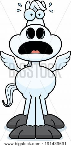 Scared Cartoon Pegasus