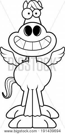 Happy Cartoon Pegasus