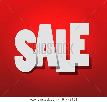 hot Sale. White text SALE on red background. vector illustration EPS10