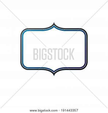 Award vintage frame with clear copy space made as art medallion design. Vector retro style insignia.