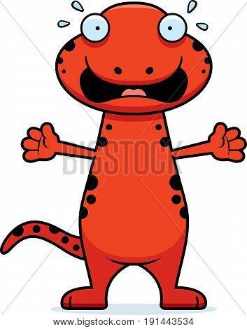 Scared Cartoon Salamander