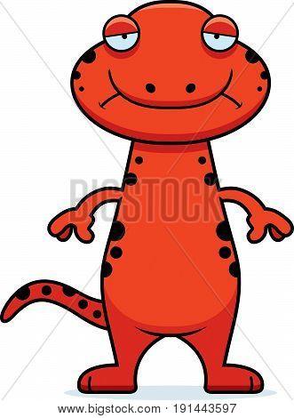Sad Cartoon Salamander
