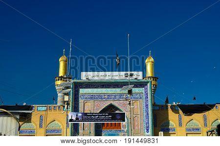 Exterior view of Al-Kadhimiya aka Golden Mosque - 30-10-2011 Baghdad Iraq
