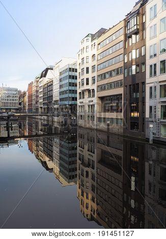 Bleichenfleet Canal In Hamburg