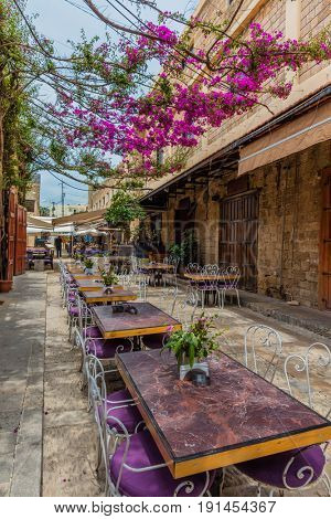 restaurants of Old Souk Byblos Jbeil in Lebanon Middle east