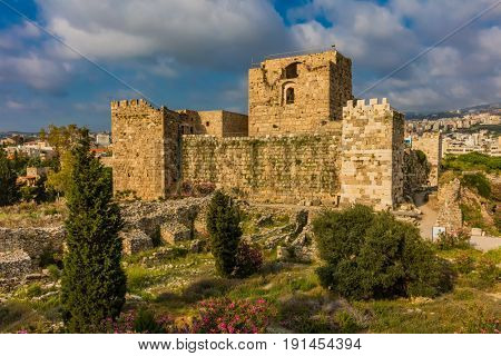 The Crusader Castle Byblos Jbeil in Lebanon Middle east