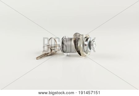 Set of house keys on white background