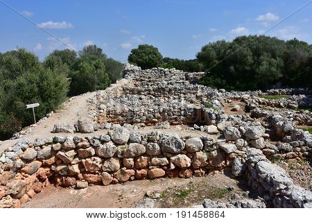 excavation village Capocorb Vell on island Majorca