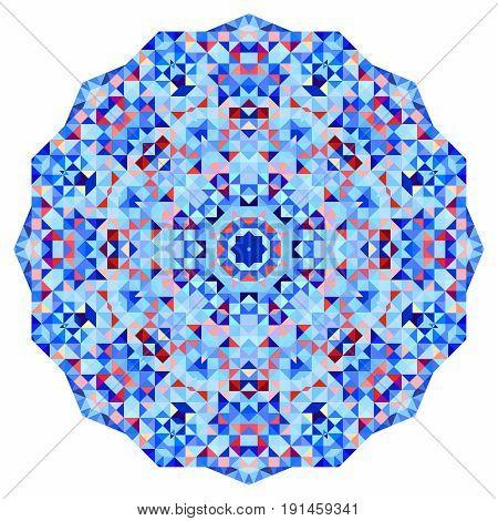 Abstract colorful circle backdrop. Geometric vector mandala. Mosaic banner of geometric shapes.