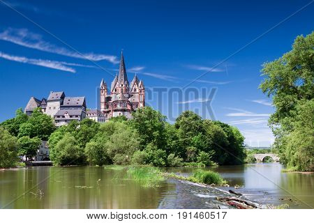 Cathedral and castle of Limburg - Long exposure version Hesse Germany