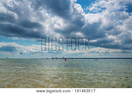 Poland, Puck Bay, sport, windsurfing and kitesurfing