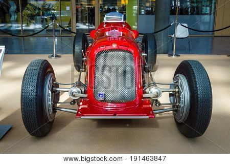STUTTGART GERMANY - MARCH 02 2017: Racing car Maserati 6C-34 1934. Europe's greatest classic car exhibition