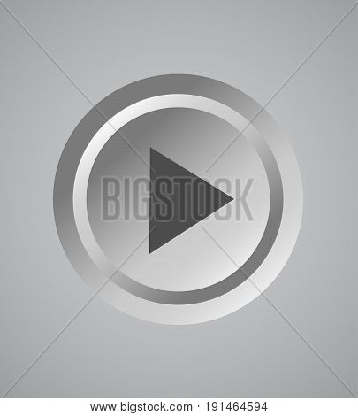 White shaded plastic button template. Vector illustration EPS10