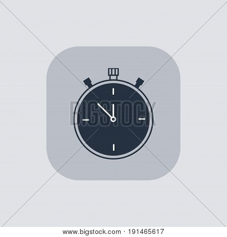 Vector modern stopwatch icon on gray background