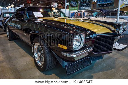 STUTTGART GERMANY - MARCH 02 2017: Muscle car Chevrolet Camaro 1971. Europe's greatest classic car exhibition