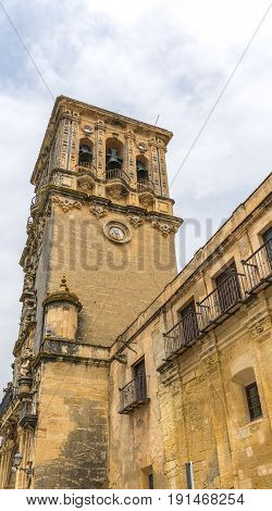 Bell Tower Of The Mudejar Iglesia De Santa Maria