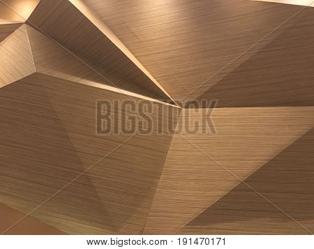 Modern style three dimensions wooden wall decoration