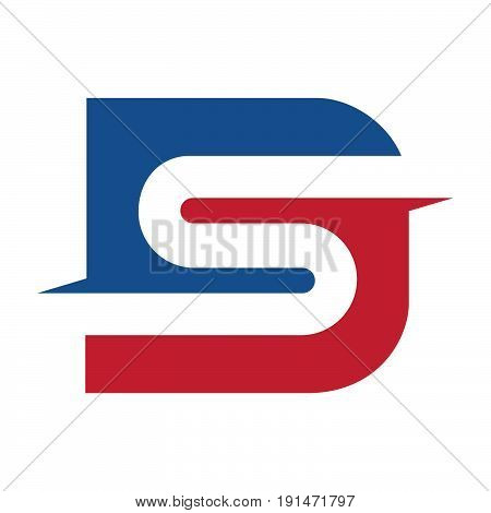 Letter DS business vector design Template .